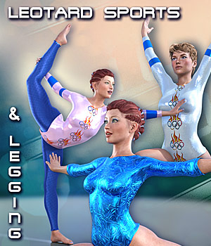 LEOTARD SPORTS for Genesis 3 Female(s) 3D Figure Assets Mar3D
