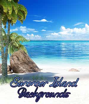 Summer Island Backgrounds 2D Graphics Calico