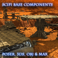 Allied Fleets Base Components - Poser,OBJ,3DS,MAX - Extended License 3D Models Extended Licenses skynet3020