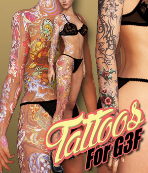 Tattoos for G3 female(s) 3D Figure Assets powerage