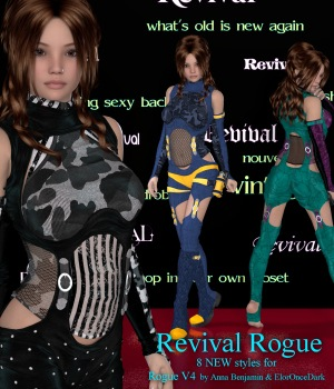 Revival for Rogue V4 3D Figure Assets JudibugDesigns