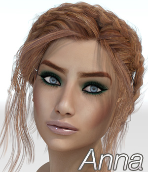 Anna for Victoria 7 3D Figure Assets Anagord