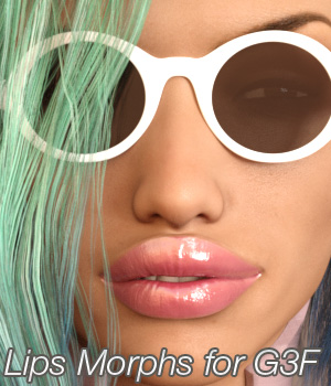 Lips Morphs for G3F 3D Figure Essentials Anagord
