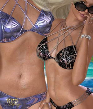 Hit the Waves II - Fashion Metalics 3D Figure Assets renapd