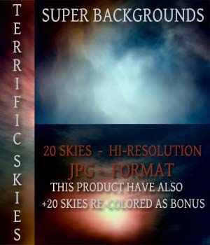 SUPER BACKGROUNDS - TERRIFIC SKIES 2D Graphics estevez