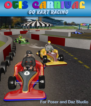 Otis Go Karts and Track 3D Models Simon-3D