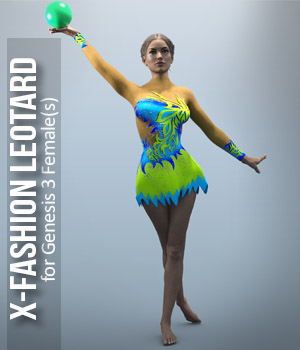 X_Fashion Leotard for G3F 3D Figure Assets xtrart-3d