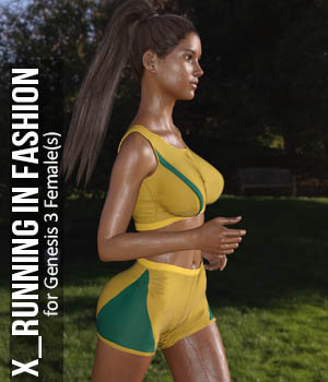Running in Fashion for G3F 3D Figure Assets xtrart-3d