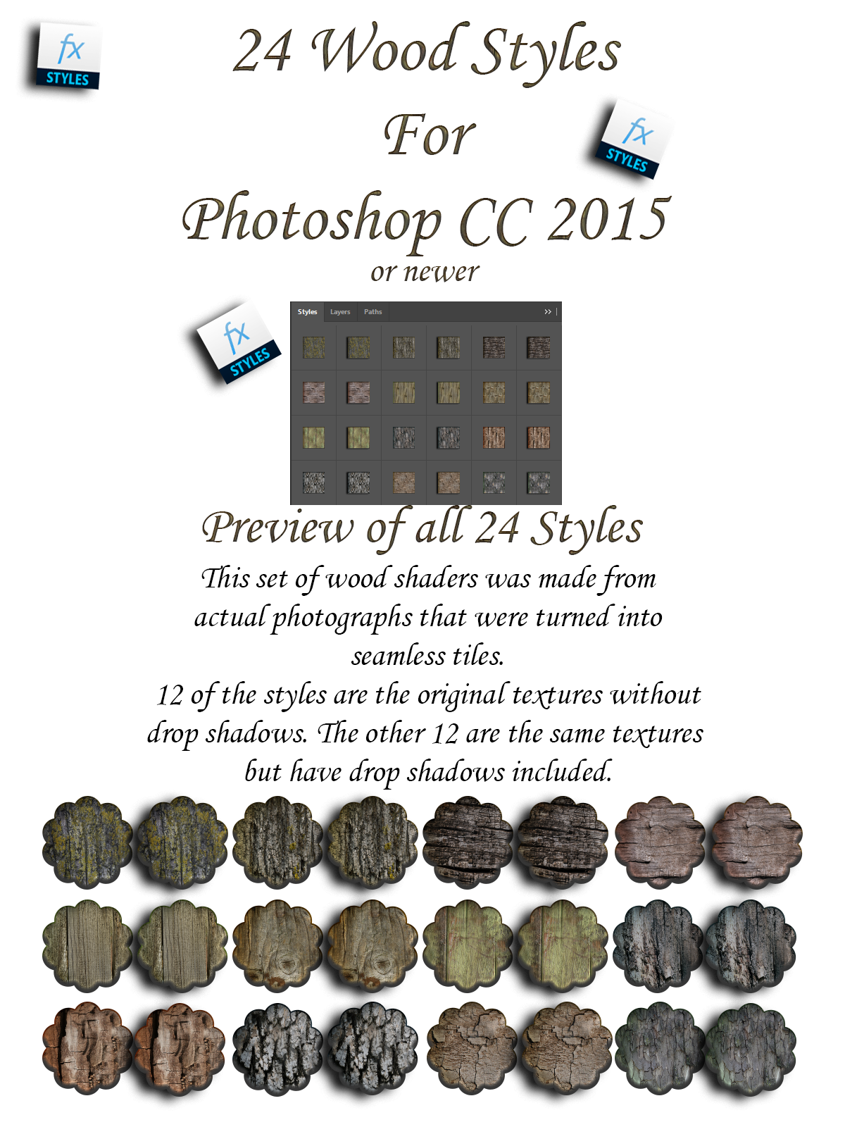 FB Wood Styles For Photoshop