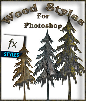 FB Wood Styles For Photoshop 2D fictionalbookshelf