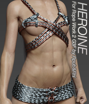 HEROINE - Rope Work 2 for G3F 3D Figure Essentials Anagord