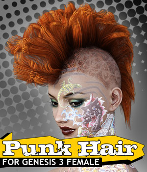 Punk Hair for G3 female(s) 3D Figure Essentials powerage