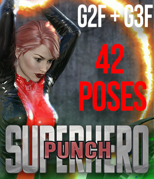 SuperHero Punch for G2F & G3F Volume 1 3D Figure Essentials GriffinFX