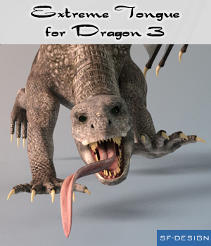 Extreme Tongue for Dragon 3 3D Figure Assets SF-Design