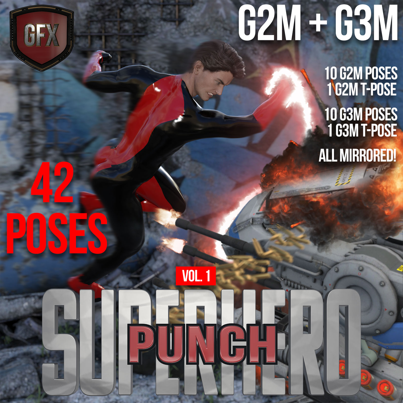 SuperHero Punch for G2M & G3M Volume 1 by GriffinFX