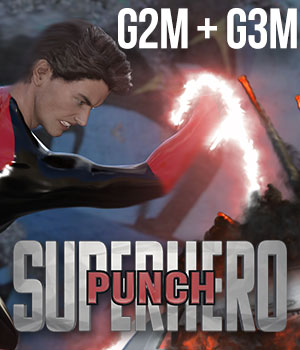 SuperHero Punch for G2M & G3M Volume 1 3D Figure Essentials GriffinFX