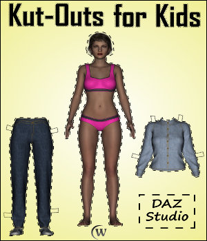 Kut-Outs for Kids: Do-It-Yourself (D.I.Y.) Paper Dolls Tutorials : Learn 3D Winterbrose