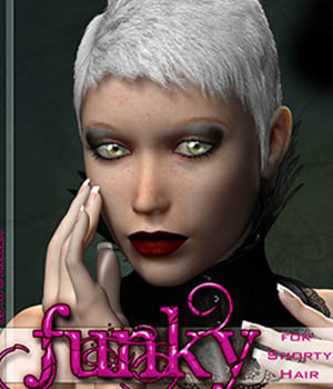 FUNKY for Shorty Hair 3D Figure Essentials Divakatt