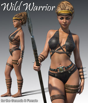 Wild Warrior for the Genesis 3 Female 3D Figure Assets 3D Models RPublishing