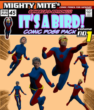 It's A Bird v01 : By MightyMite for G2M/G2F 3D Figure Assets MightyMite