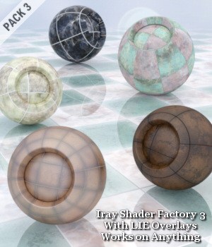 Iray Shader Factory 3 with LIE Overlays 3D Figure Assets Lully