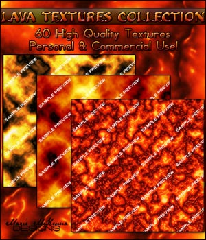 Lava Textures Collection 2D Graphics Merchant Resources MarieMcKennaDesigns