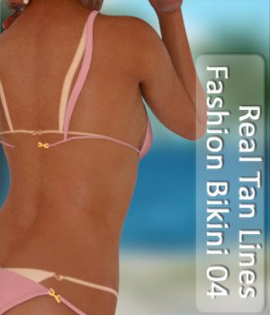 Real Tan Lines for Fashion Bikini 04 3D Figure Essentials PairADime