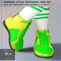 Modern Style Add On for OOT Sneakers for Genesis 3 Males image 1