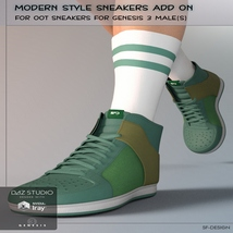 Modern Style Add On for OOT Sneakers for Genesis 3 Males image 2