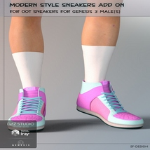 Modern Style Add On for OOT Sneakers for Genesis 3 Males image 3