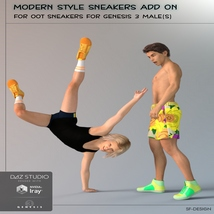 Modern Style Add On for OOT Sneakers for Genesis 3 Males image 4