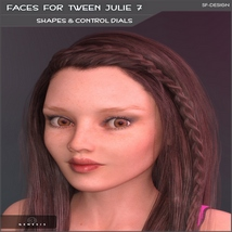 Faces for Tween Julie 7 - Shapes and Merchant Resource image 1