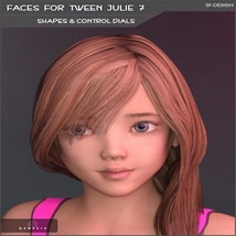Faces for Tween Julie 7 - Shapes and Merchant Resource image 2