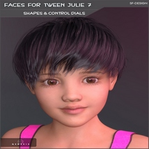 Faces for Tween Julie 7 - Shapes and Merchant Resource image 3