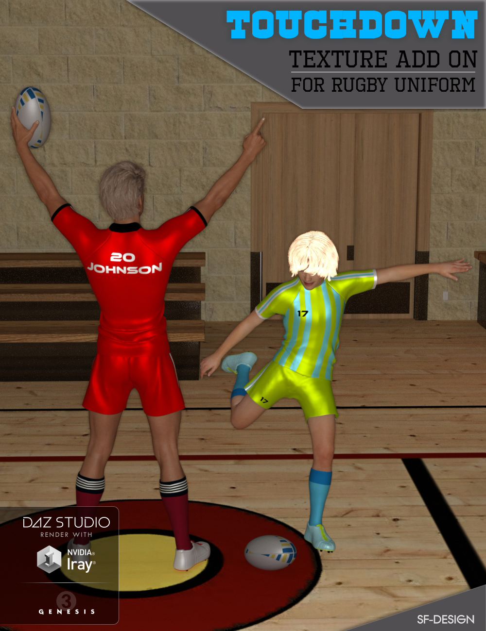 Touchdown Texture Add On for Rugby Uniform by SF-Design