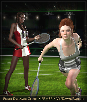 FRQ Dynamics: Tennis Dress  3D Figure Assets Frequency