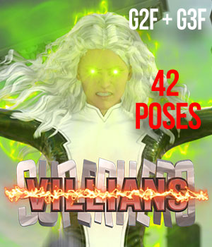 SuperHero Villians for G2F &G3F Volume 1 3D Figure Assets GriffinFX