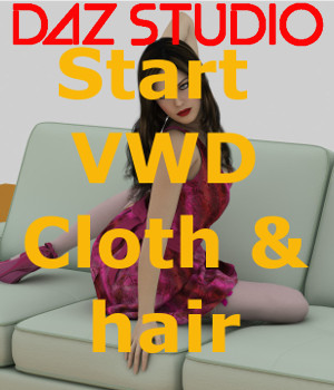 Daz Studio bridge for VWD Cloth and Hair Software philemot