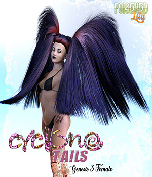 Cyclone Tails for Genesis 3 Female 3D Figure Essentials Cimerone