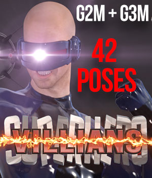 SuperHero Villians for G2M & G3M Volume 1 3D Figure Essentials GriffinFX