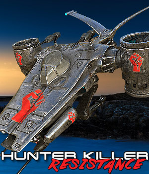 Hunter-Killer Resistance 3D Models Cybertenko