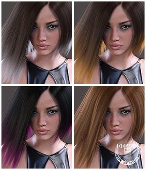 Samira Hair Iray Texture XPansion 3D Figure Essentials outoftouch