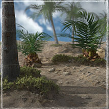 3D Scenery: Dryland Oasis - Extended License image 1