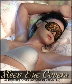 Sleep Eye Covers for Genesis 3 Female(s) 3D Figure Assets Sveva