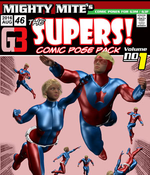 The Supers v01 : By MightyMite for G3M/G3F 3D Figure Essentials MightyMite