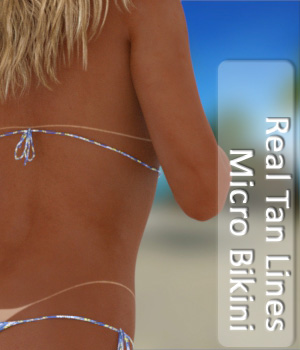 Real Tan Lines for Micro Bikini 3D Figure Assets PairADime