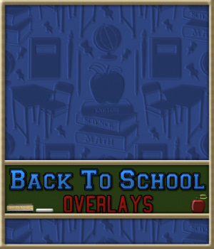 Back To School Seamless Transparent Overlays 2D Merchant Resources fractalartist01