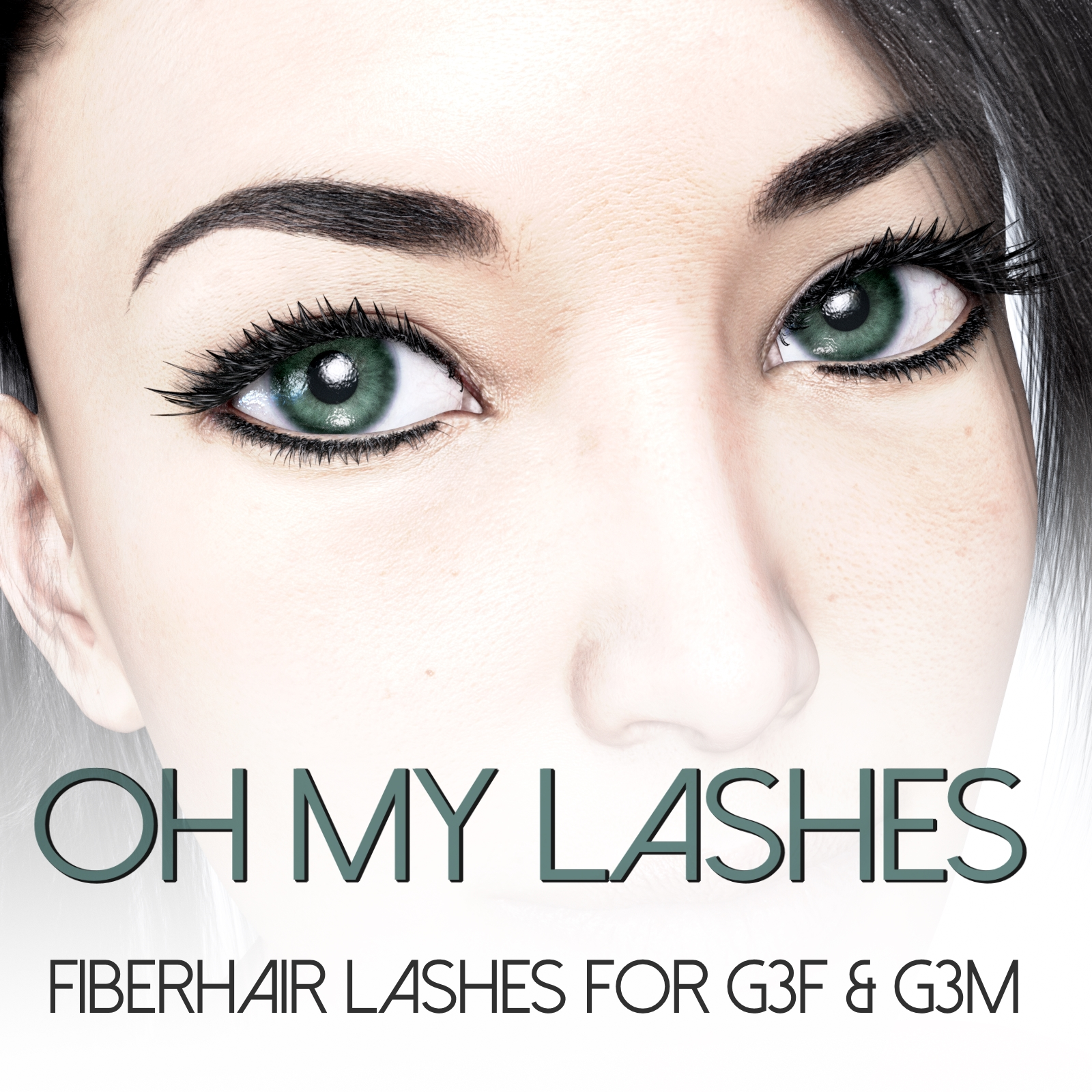 Oh My Lashes Fiberhair Eyelashes For G3f G3m 3d Figure Assets