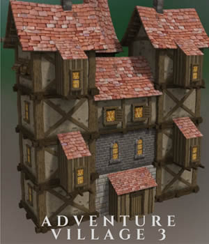 Adventure Village 3.- Extended License 3D Models 3D Game Models : OBJ : FBX Extended Licenses dexsoft-games