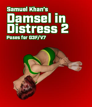 SamuelKhan's Damsel in Distress Poses 2 for G3F and V7 3D Figure Essentials SamuelKhan
